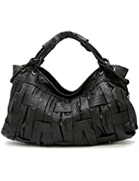 Classic Bucket Tote Handbag (Black)