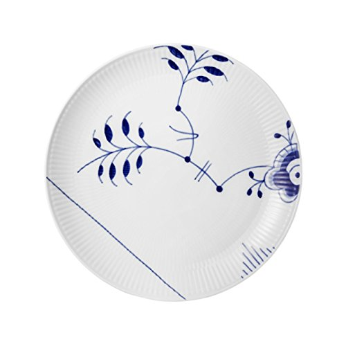 Blue Fluted Mega 9'' Coupe Luncheon Plate By Royal Copenhagen