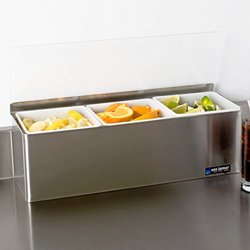 - San Jamar B6183L EZ Chill Condiment Center - 3 Qt. Capacity