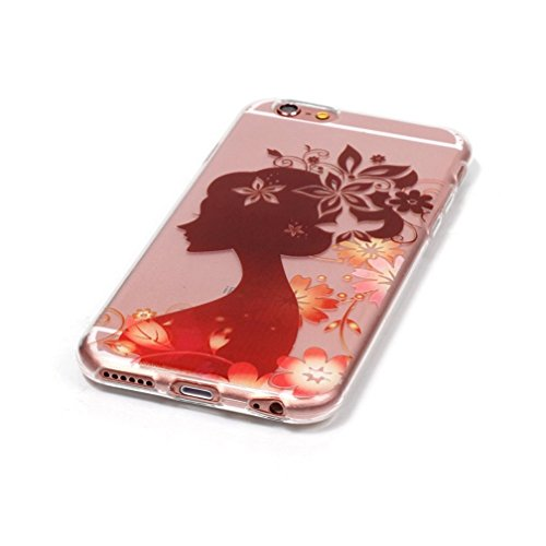 iPhone SE Case, iPhone 5s Case, Ranrou case,Ranrou Soft TPU Silicone Clear Cases for iPhone 5s SE -girls