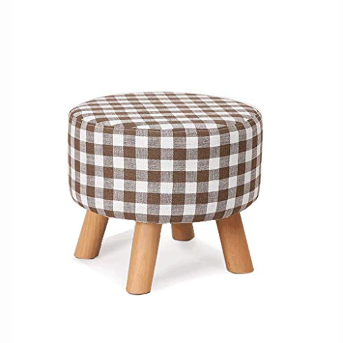Price comparison product image QARYYQ Solid Wood Fabric Sofa Stool Personality Stool Stool Wooden Bench (Color : B,  Size : 4035CM)