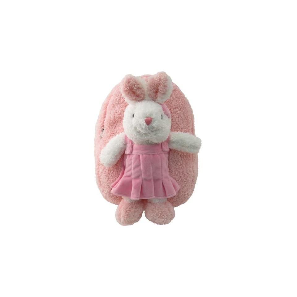 Kids Girls Pink Plush Backpack with Bunny Stuffie item#kk8265