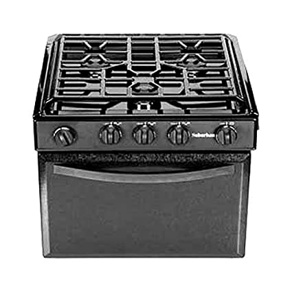 Rv Stove Oven >> Suburban 3215a 22 Rv Gas Range With Black Textured Steel Door