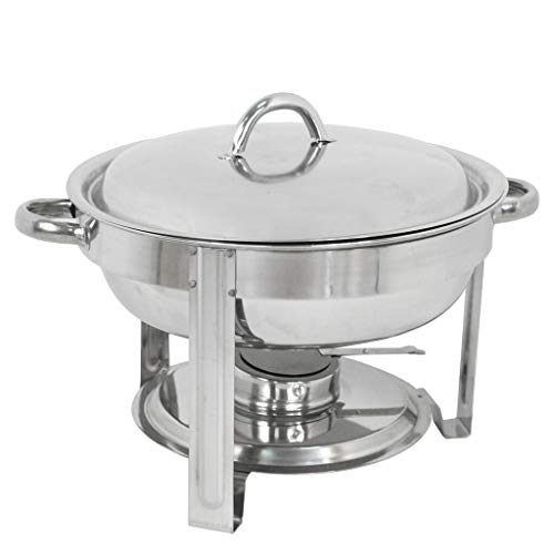 Seleq Stainless Steel Round Chafing Dish - 5 Qt.