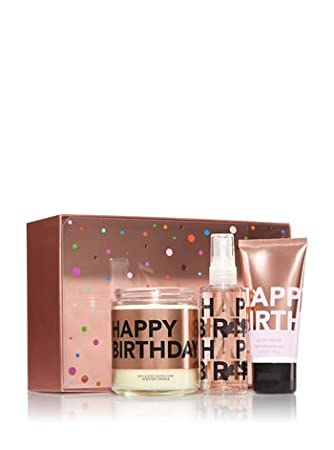 Bath And Body Works Gift Set QuotHAPPY BIRTHDAYquot Includes Candle Travel