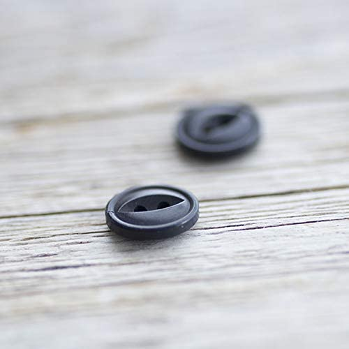 【丸型キャッツアイ(猫目)】ナットボタン #ONT08H 2穴 11.5mm C/#58 ダークネイビー 2個セット