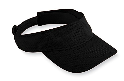 Augusta Sportswear Athletic Mesh Visor, One Size, Black