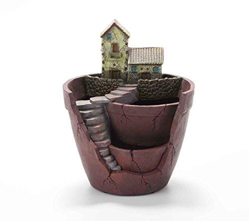 Vencer Creative Plants Pot - Flowerpot Combination Resin Succulent Plant Pot (House),VF-007