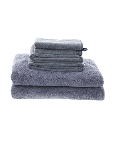 Best Grey MojaFiber Microfiber Bath Combo Bath Towel (2)   Hand Towel (2)   Face Cloth (2) by MojaWorks