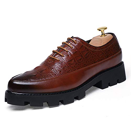 chic dipinte Color EU Scarpe uomo Basse 2018 Marrone oxford Stringate Dimensione texture casual Xujw formali high 37 Gold end da shoes morbide Scarpe scarpe vBqnanS6