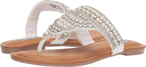 Not Rated Womens Siya White 9.5 M (Best Rated Flip Flops)