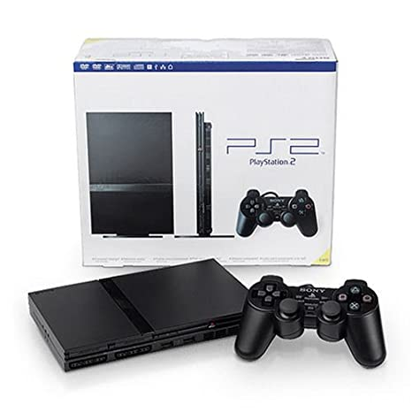 Amazon Com Playstation 2 Consola Slim Color Negro Artist Not Provided Video Games