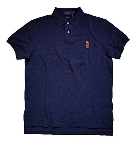 Polo Ralph Lauren Mens Custom Fit Mesh Limted Bear Polo Shirt