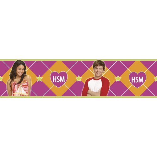 Blue Mountain Wallcoverings DS026452 High School Musical Self-Stick Wall Border, 5-Inch by 15-Foot by Blue Mountain Wallcoverings