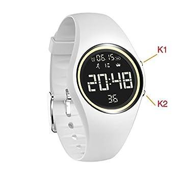 Reloj impermeable con podómetro, contador de pasos / control de distancia / calorías / reloj