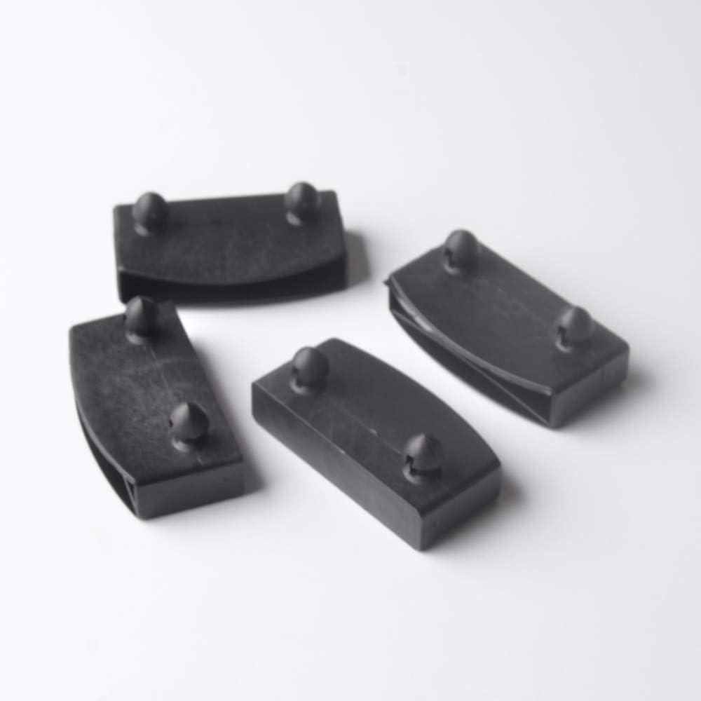 tappo singolo in gomma nero per letto laterale N // A 20 pezzi di copertura per doghe laterali in metallo 50 x 9 cm accessori per mobili nero