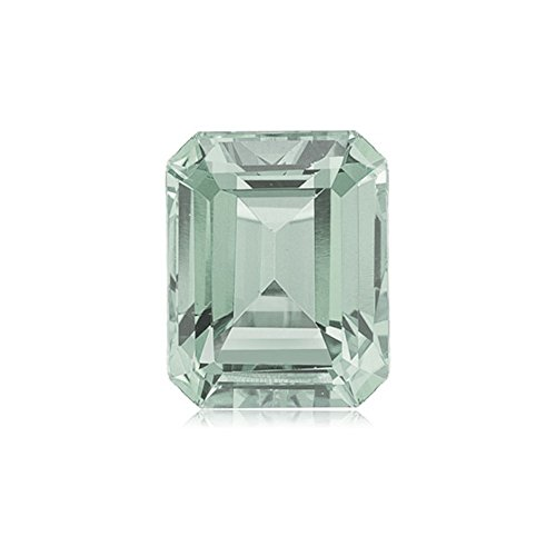 1.95-2.95 Cts of 9x7 mm AA Emerald Cut Green Amethyst ( 1 pc ) Loose Gemstone (Cut Green Amethyst Stone)