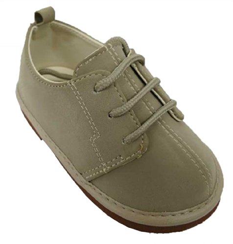 Rising Star Beige Suede Boy's Oxford Shoe - Size-10 [3011]