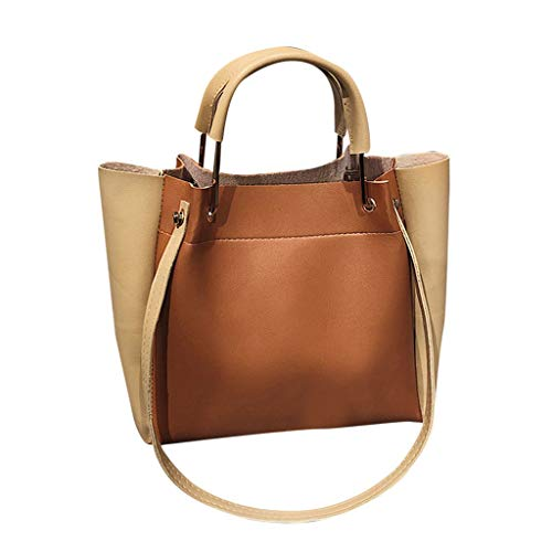 HOSOME Shopping Handbags Women Big Bag Daily Trunk Tote Shoulder Bag Brown