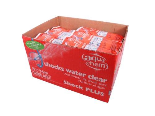Aqua Chem 22816AQU-36 36-Pack Shock Plus Water Clarifier for Swimming Pools, 1-Pound
