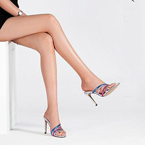 Sottile Donna Sexy Da E 35 Estivo In Di Una Pantofole Colore JIANXIN E Belle dimensioni Con Trascinamento Parola Pelle wxX8BHfq