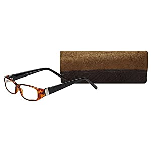 SAV Eyewear (Select-A-Vision) Victoria Klein Fashion Rectangular Reading Glasses 7021 Demi, 1.25