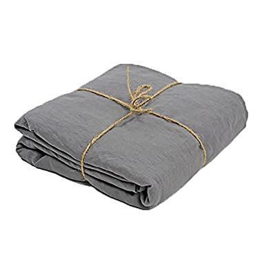 Linenshed - USA Queen Soft Stonewashed Linen Duvet Cover Lead Gray