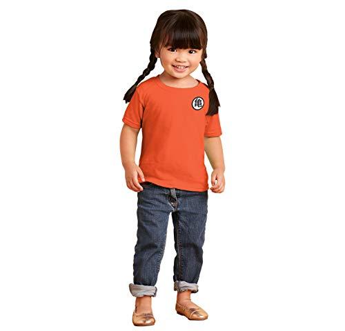 Ball Z Gokus Kanji Uniform Symbol Dragon Infant Toddler T Shirt Orange