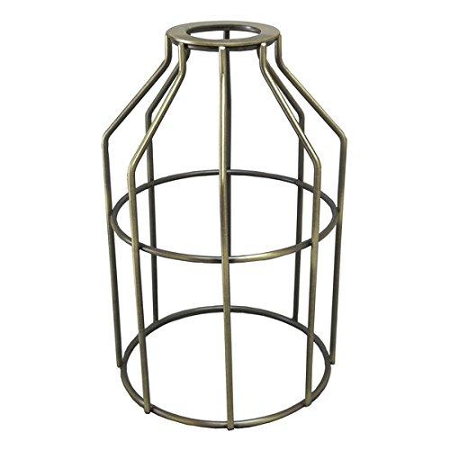 iLightingSupply 37-0108-30 Vintage Premium Washer Mount Bulb Cage - Open Style - AB, Antique Brass