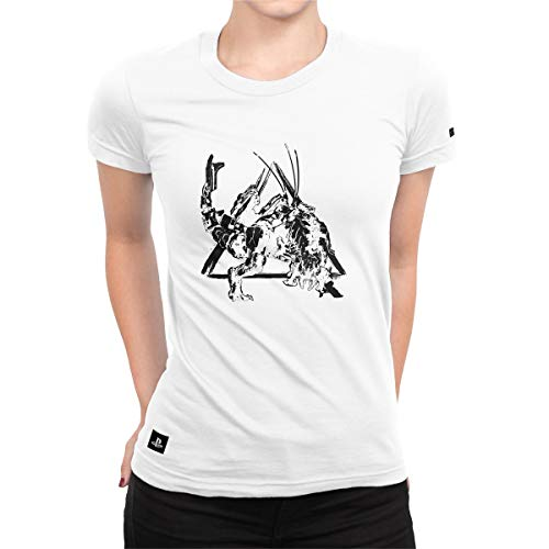 Camiseta Feminina Horizon Zero Dawn Thunderjaw Power - Branco - G