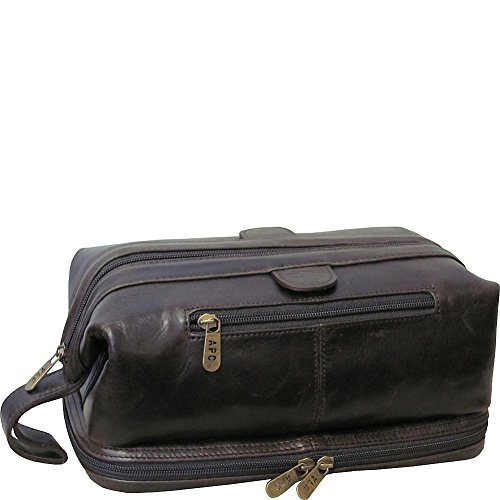 amerileather-toiletry-bag-with-bonus-accessories-dark-brown