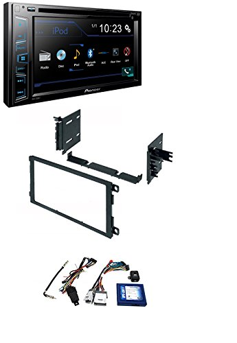 PAC RP5-GM11 GM LAN RADIO REPLACEMENT INTERFACE FOR SELECT GM VEHICLES With Dash Install Mounting Trim Bezel Panel Kit Mount+PIONEER AVH290BT BLUETOOTH ()