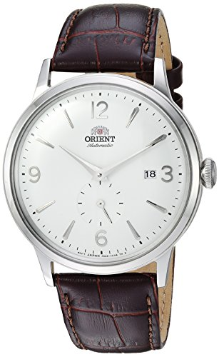 Orient Men's 'Bambino Small Seconds' Japanese Automatic Stainless Steel and Leather Dress Watch, Color:Brown (Model: RA-AP0002S10A)