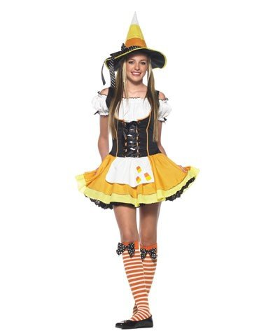 Leg Avenue Inc Girls' Kandy Korn Witch Tween Costume Multicoloured Small/medium
