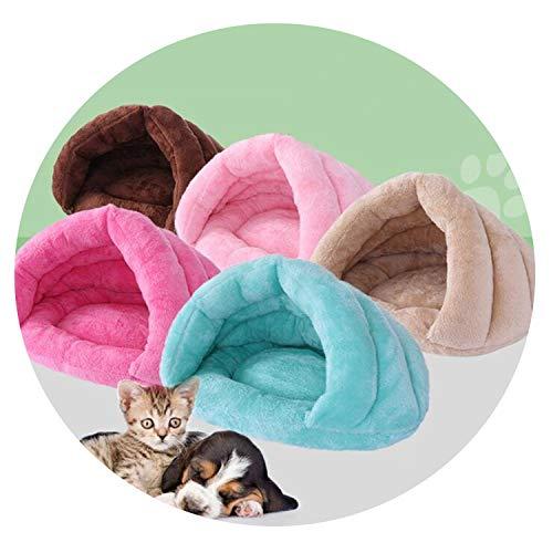 - ZZmeet 5040cm Pet cat Dog Kennel Winter Warm House Super Soft Dog Bed Princess House for Samll Dog Cat Sleeping Bed Pet nest Kennel,Beige,50x40x30cm