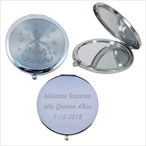 Mis Quince A os 12 PCS Sweet 15, Sweet Sixteen, Quincea era, Mis 15 A os Compact Mirror Silver