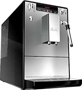 Melitta 953-102 - Cafetera automaticá (1.2L, 15 bar, 1400 W), con molinillo integrado, espumador de leche, plata