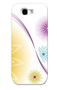 CHFWkgn9972AuyrX Premium Flower Motifs Back Cover Snap On Case For Galaxy Note 2