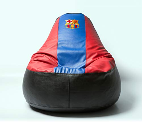 (Barcelona Football Beanbag Comfortable Kids Adult Game Outdoor Indoor Lounge Chair Cover + Inner Bag (Without Beans))