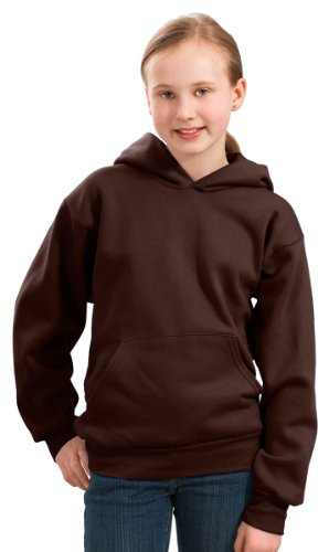 Port & Company Boys' Pullover Hooded Sweatshirt S Dark Chocolate Brown ()