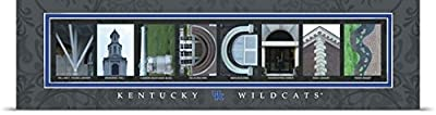 Campus Letter Art Poster Print entitled Wildcats - University of Kentucky Campus Letters
