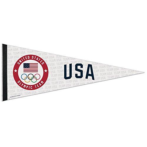 OLYMPICS 36961012 USOC Team USA Logo Premium Pennant, 12'' X 30'' by WinCraft