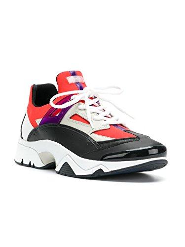 Kenzo Herren F855SN350F5521 Weiss/Rot Polyamid Sneakers