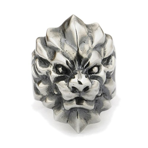 LINSION 925 Sterling Silver Wolverine Wolf Mens Ring Biker Rock Jewerly TA01A (12) by LINSION