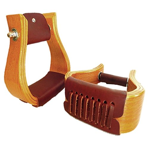 Oak Roping Wide Stirrups leather Tread 4