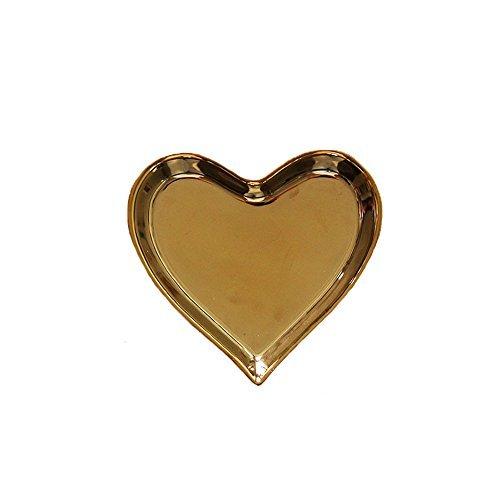 CHOOLD Romantic Porcelain Small Heart Dish Cake Dessert Dish Ring Dish Jewelry Dish Wedding Birthday Gift