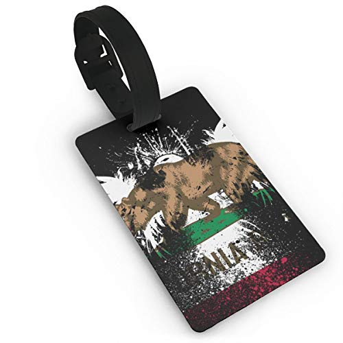 Sheery California Flag Luggage Tags Business Card Holder Travel ID Bag Tag