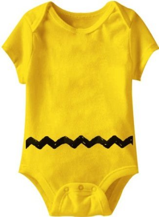 Peanuts Charlie Brown Costume Yellow Infant Baby Onesie Romper (12-18 Months)