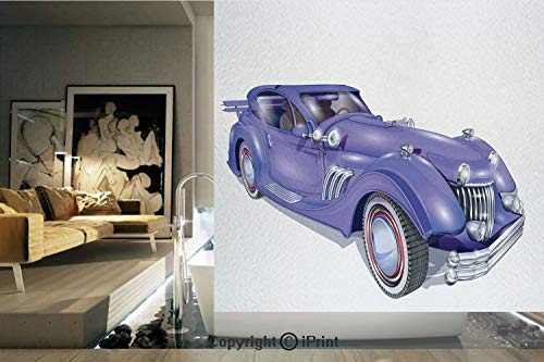 - Decorative Privacy Window Film/Custom Vehicle with Aerodynamic Design for High Speeds Cool Wheels Hood Spoilers Decorative/No-Glue Self Static Cling for Home Bedroom Bathroom Kitchen Office Decor Viol