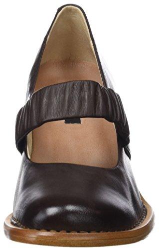 Châtaigne Escarpins Neosens Restored Fermé Skin Bout Femme Noir Marron E686vqw